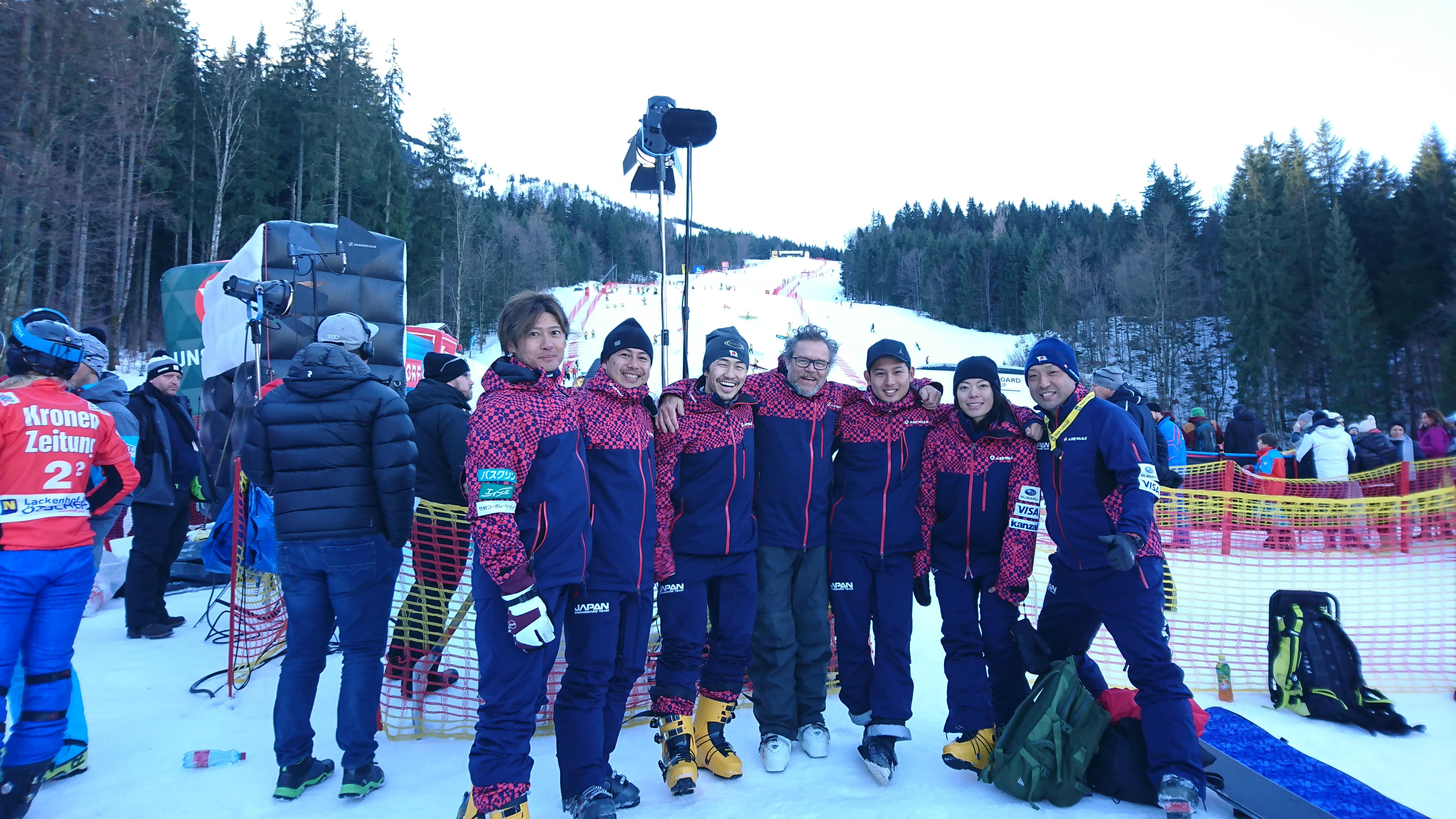 Japanアルペンスノーボードチーム ワールドカップ ラッケンホッフ(オーストリア)終了後