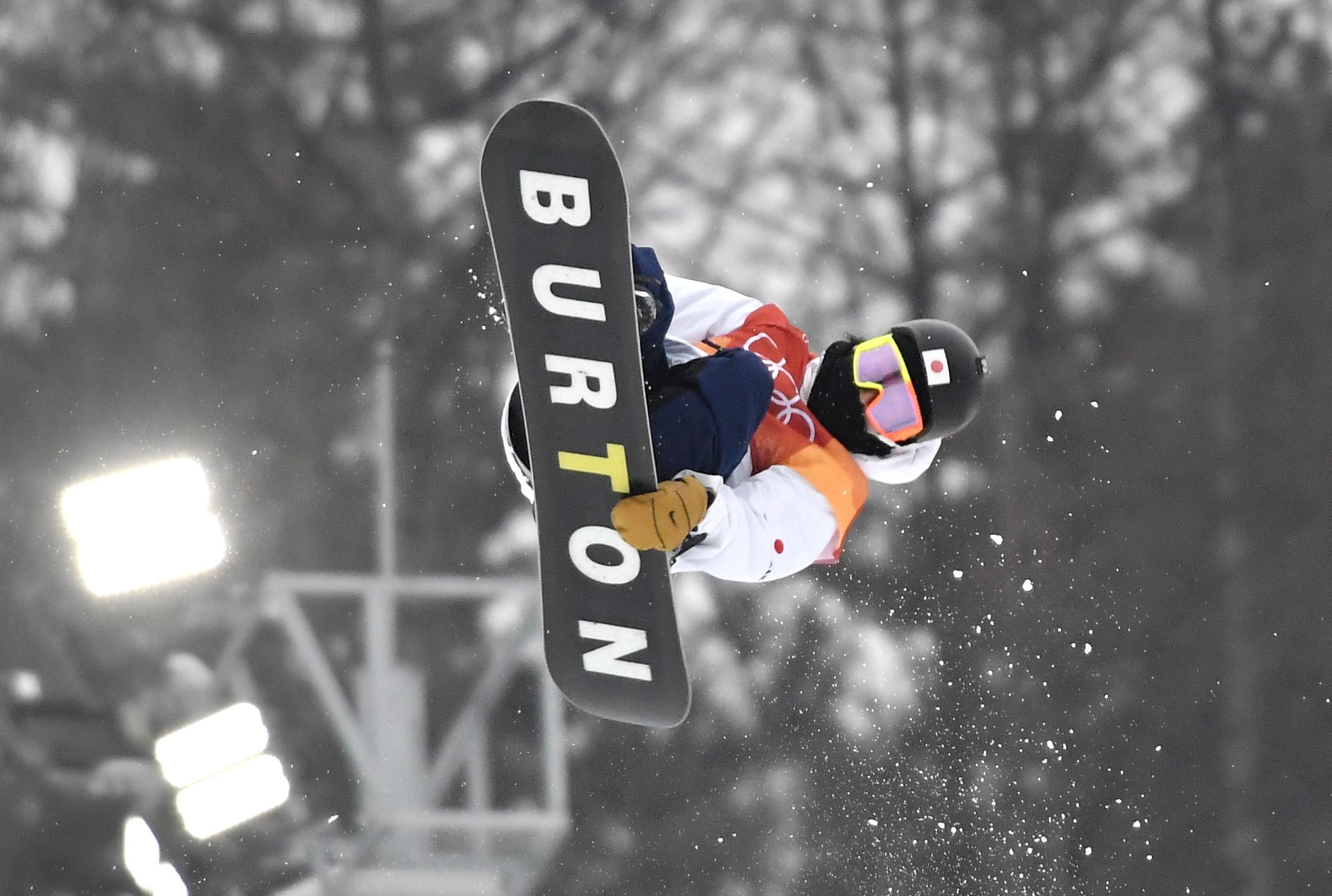 14-02-2018 SNOWBOARDEN HALF PIPE: OLYMPISCHE SPELEN: OLYMPIC GAMES: PYEONGCHANG 2018 Ayumu HIRANO (JPN) , tweede op half pipe Foto: Soenar Chamid