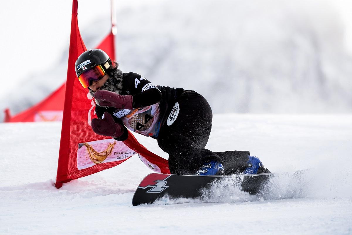 FIS Snowboard World Cup - Cortina d'Ampezzo ITA - PGS -   SATO Emi JPN © Miha Matavz